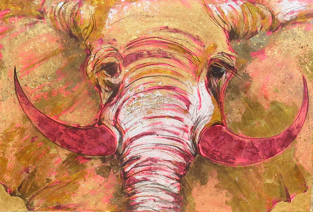 Tusker Rose - 170 x 114cm - Acrylic on Canvas