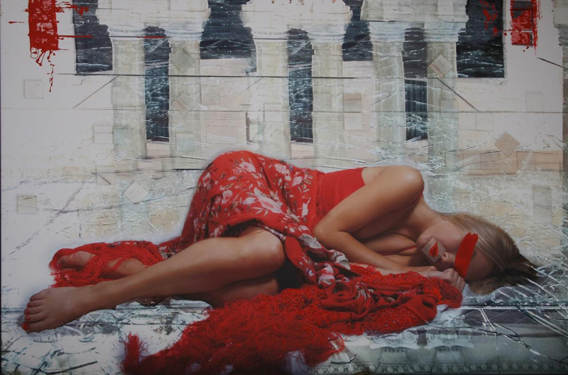 Andalucia Dormida - 155 x 110cm - Neo Collage over Aluminimum with Plexiglass